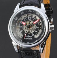 automatic sport motorcycles - Sports Automatic Mechanical Wristwatch Men Black Titanium Fashion Casual Dress Steampunk Skeleton Leather Bracelet Watches Motorcycle Design
