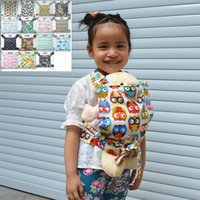 Wholesale U PICK New Baby Doll Carrier Mei Tai Sling Toy For Kids Children Toddler Front Back Owl Dot Flower Kaleidoscope Mini Carrier Choices