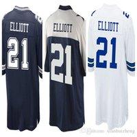 Wholesale Best Quality New Draft Pick Ezekiel Elliott Jersey Cheap Blue White Stitched Men Ezekiel Elliott Elite football Jersey Size
