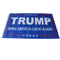 Wholesale 90 cm Donald Trump x5 Foot Flag Make America Great Again Donald for President USA
