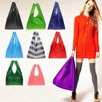 Wholesale DHL free ship New Candy color Japan Baggu Reusable Eco Friendly Shopping Tote Bag pouch Environment Safe Go Green