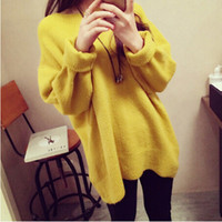 Wholesale High Quality Cashmere Sweater Women Winter Pullovers O neck Solid Knitted Sweater Tops for Women Oversized Female Sweaters