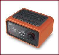 al por mayor calendario de apoyo-Altavoz de cuero al por mayor-Multifunción de Bluetooth con el reloj de alarma de la ayuda de radio de FM Calendario de la exhibición