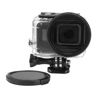 Wholesale New mm UV filter with lens cover and adapter for original GoPro Hero5 Black waterproof case Go Pro Hero Accessories
