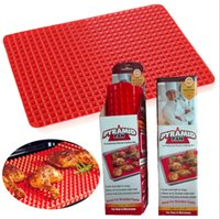 bbq manufacturers - TV products PYRAMID PAN Pyramid barbecue tray silicone pad BBQ microwave oven pad manufacturers spot