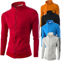 collar bars - Men s sweaters long sleeve cotton cardigan zipper high quality collar bars colors