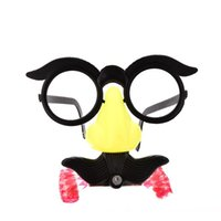 baby humor - new Humor Toy Funny Clown Glasses Costume Ball Round Frame Red Nose Whistle Mustache Baby Toy