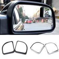 Wholesale 2x Adjustable Blind Spot Rear View Mirror Fan Shape degrees Celsius View Mirror