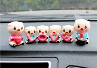 article monkey - Creative furnishing articles LOVE monkeys act the role of the car accessori cute doll car decorations on cartoon car accessories
