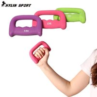 Wholesale 3 colours pair kg dumbbells walking dumbbell women s child slimming weight loss dumbbell for and freeshipping