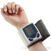 Wholesale 2016 New pc Digital LCD Wrist Cuff Arm Blood Pressure health monitors Heart Beat Rate Pulse Measure Meter health care Machine
