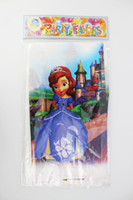 Wholesale Kid Girl Baby Happy Birthday Party Decoration Kids Supplies Favors Sofia the First Princess Table Cloth Size cm X cm
