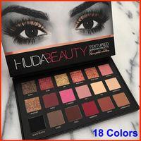 arrival glitters - New Arrival HUDA Beauty eyeshadow palette shimmer colors eye shadow Matte Eyeshadow Rose Gold Textured Eyes Makeup Cosmetics eyeshadow