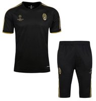 Wholesale High quality Juve training suit Serie A Higuain Dybala Marchisio Pianic Khedira Mandzukic Sportswear Set skinny jogging clothing