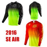 Wholesale tld Fluorescent Yellow Black SE Air Starburst MX Jersey MTB Mountain Bike T shirt Downhill Moto Jerseys