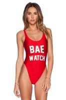 beach watch - 2016 Sexy BAE WATCH One Piece dope Swimsuit California Women Bathing Suit Monokin Bodysuit Swim Suit Beach Swimwear free ship