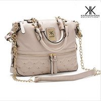 Wholesale famous brand bags kardashian kollection beige blue women leather handbag shoulder bag KK totes Crossbody Bag