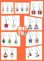 animal party theme - Christmas Earrings for Europe and America new hot selling Christmas Snowman elk Bell Christmas Tree Jewelry theme Earrings
