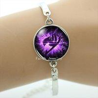 El gremio de hadas de la cola del Anime marca la pulsera púrpura del ala El regalo encantador romántico BA003 de la novia de las pulseras de la joyería de las mujeres de Steampunk