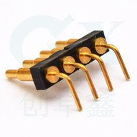 Wholesale 4pin right angle pitch mm surfactreatment with gold plating plunger brass pogo in connector for digital camera ipad telephone smart watc
