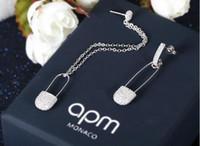 Wholesale 925 Sterling Silver APM MONACO Dangling Chandelier Earring Stud Women Fashion Designer Hoop Earrings Brand New Design