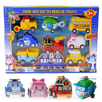 Wholesale Poli Toys Korea Robocar Poli Poli Amber Roy Helly Spring Team Car Plastic Safe Toy Children Gift