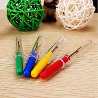 Wholesale Seam Rippers Wholesale - Wholesale-4pcs Lot Plastic Handle Craft Thread Cutter Seam Ripper Stitch Unpicker Needle Arts Sewing Tool