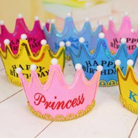 adult birthday candles - Birthday Cake Candles Manufacturers luminous crown birthday hat adult children party dress up non woven fabrics