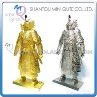 ancient war - DHL Piece Fun D Chinese Ancient War golden general leader super hero robot assemble Metal Puzzle adult models educational toy