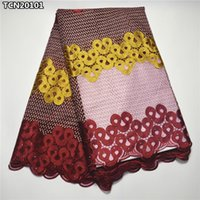 Cheap Fabric african net lace Best Lace Different color africa mesh lace