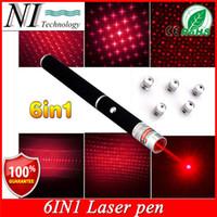 Wholesale Super Bright mw in1 Red Laser Pointer Pen Beam Light Military Caneta Laser Verde Mira Laser Azul Different Patterns Star Caps