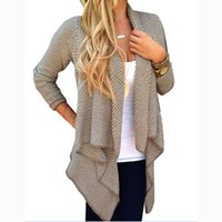 Wholesale 2017 Spring New Europe and The United States Women s Tops Large Size Women s Loose Cardigan Women s Knits