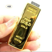 Wholesale Gold Bar Model New Flash Drive free dhl real real GB GB GB GB Memory Stick GB GB USB Storage U Disk