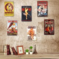 Wholesale Metal Tin Sign Plaque Pin Up Girl House Office Lounge Bar Stickers Decor Iron Plaques Wall Decor