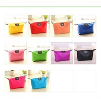 Wholesale 10 Colors High Quality candy Cute Women s Lady Travel Makeup Bags Cosmetic Bag Pouch Clutch Handbag Casual Purses Dumpling type cosmetic gi