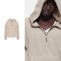 Wholesale FOG FEAR OF GOD hooded OVERSIZE Sheep velvet Hooded sets of sweater Sherpa Zip Hoodie JIUSTIN BIEBER