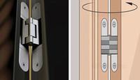 Wholesale 304 stainless steel folding cross door hinge coincide page hidden hinge concealed hinge hidden hinge for door open or close