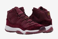 Wholesale Retro GS Velvet Heiress s Red Wine Mens Basketball shoes Men Women Night Maroon Metallic Gold White Sneakers Cheap For Sale