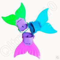 Wholesale Adjustable Mermaid Swim Fin Diving Monofin Swimming Foot Flipper Mono Fin Swim Training For Kid Children Christmas Gifts CCA5583