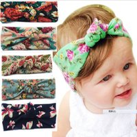 Wholesale 2017 New Cute Baby Girl Toddler Newborn Headband Multi Color Printing Floral Knot Hair Bands Accessories Headbands