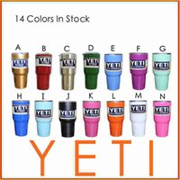 Wholesale New Hot Sale Colors oz YETI Rambler Tumbler Cup Coolers Bilayer Vacuum Insulation Cup Yeti Tumbler Mug Stainless Steel Cup