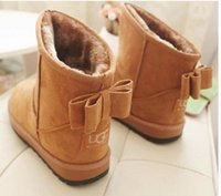 Wholesale Fashion Faux Fur Leather Warm Women s Boots Suede Australia Women Winter Ankle Snow Boots Plush Ladies Snow Shoes