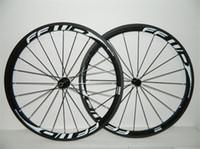 Wholesale White model With Six kinds of hubs rim width mm K UD K FFWD F4R mm road bike carbon wheels