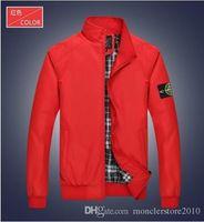 Wholesale NEW MENS LONG SLEEVE JACKET T SHIRTS TOPS STONE outwear men jacket coat men jacket coat