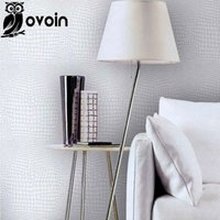 Wholesale Faux crocodile skin leather modern pattern Wallpaper for wall White Silver texture glitter vinyl Wall paper luxury Wallcoverings