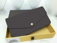 Wholesale Fashion designer clutch famous brand clutch Genuine leather wallet with logo box dust bag N60531