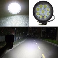Wholesale 27W cree LED Work Lamp Bar Waterproof Flood Spot Combo Beam Offroad Boat Car Motorcycle and car headlight Night Driving Lighting