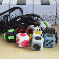 Wholesale 11 colors new fidget cube Keychains the worlds first American decompression anxiety toys Keyring cm C1670