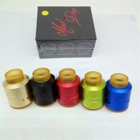Wholesale Newest Desire Mad Dog RDA Atomizers clone with mm Diameter Double convex post Build Decks for Thread Vape Mods DHL free