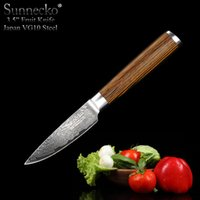 Wholesale Sunnecko New quot Kitchen Paring Knife Layers Japanese Damascus Steel Blade Strong Hardness with Pakka Wood Handle Cooking Accessories